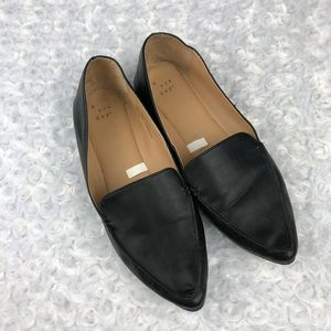 a new day Micah Pointed Toe Black Loafers Size 9
